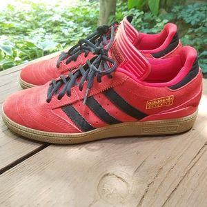 Adidas Busenitz Fiery Red Suede Kicks Sz 7.5